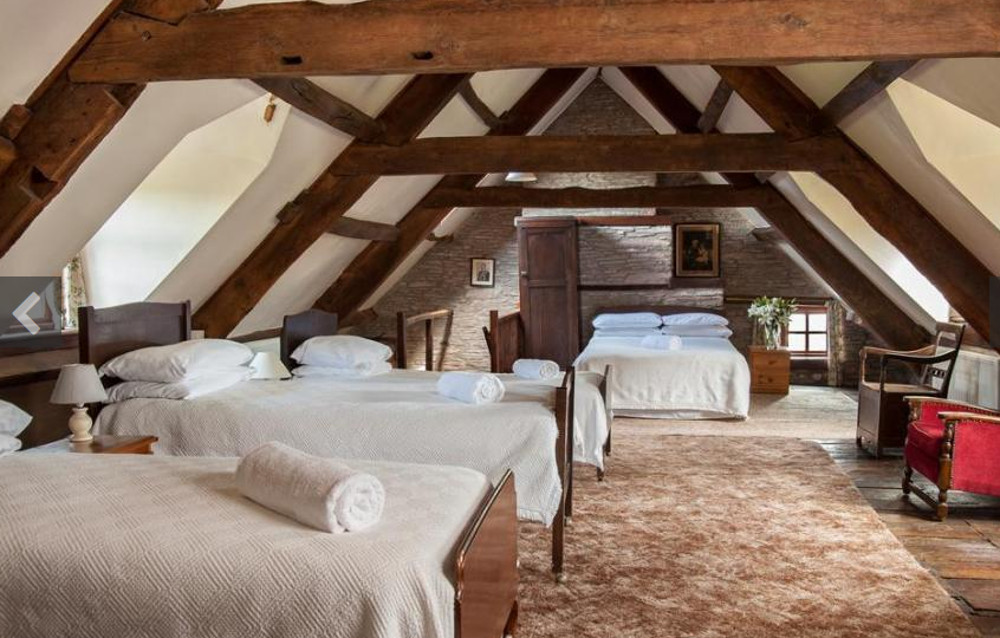 One of the bedrooms at Alexanderstone Manor in Groesfford