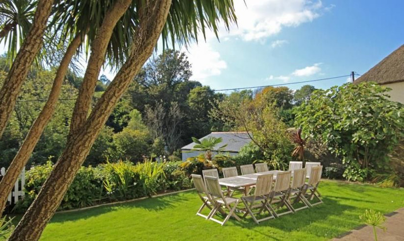 The garden at Batson House in Salcombe