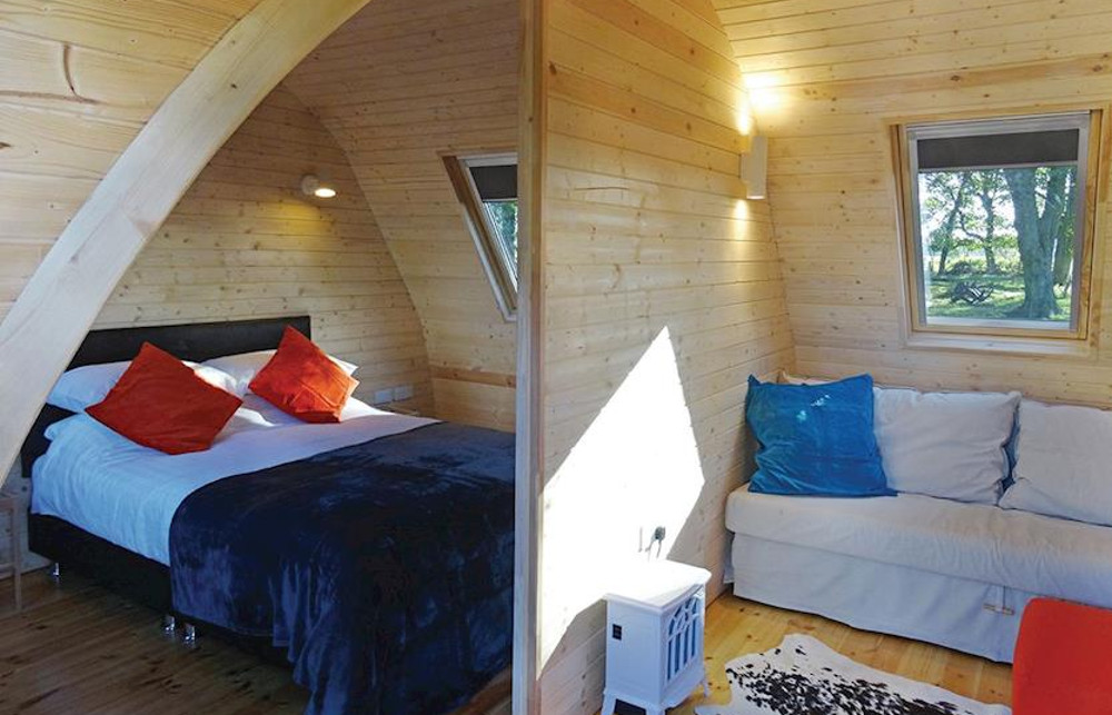 Inside a pod at Blossom Plantation Pods in Chathill