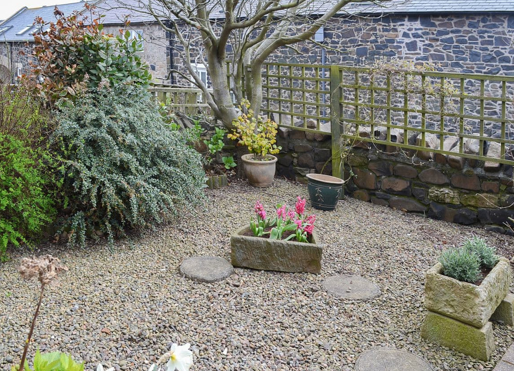 The garden at Bramble Cottage in Craster, Northumberland