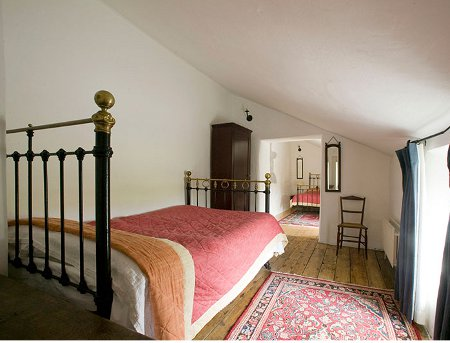 One of the bedrooms at Clomantagh Castle in County Kilkenny
