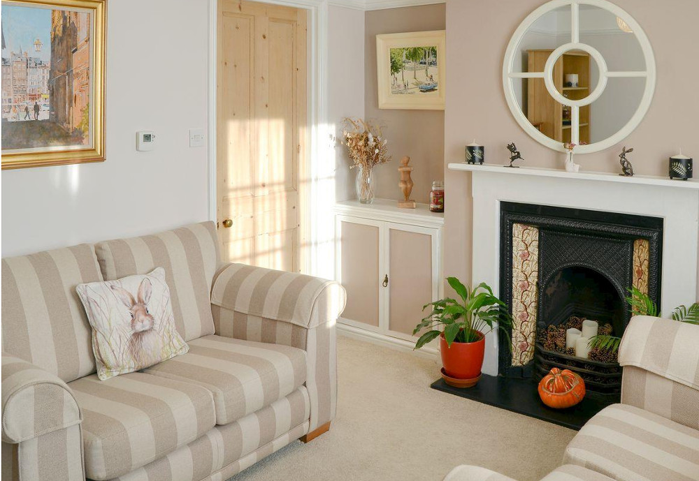 The living room at Courtyard Cottage in Framlingham