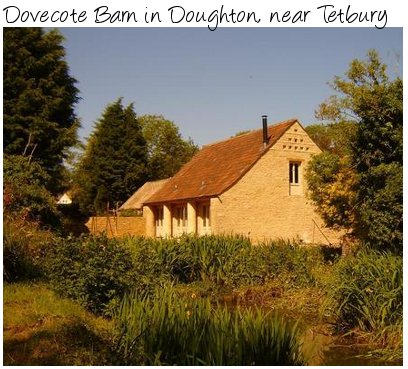 Dovecote Barn is a holiday cottage in Doughton, near Tetbury in Gloucestershire. A great place to explore the Cotswolds