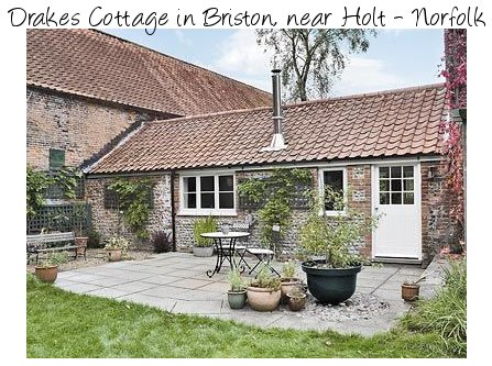 Drakes Cottage is a charming holiday cottage near Holt in Norfolk - and has a wood burning stove