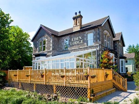 Eden Lodge in Bardsea, near Ulverston, is a large holiday cottage in the Lake District National Park. Eden Lodge sleeps 25 people