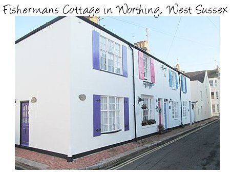 Fishermans Cottage is an old cottage in the south coast town of Worthing, close to the beach