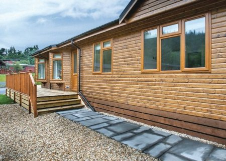A lodge at Glendevon Country Park in Dollar near Perthshire