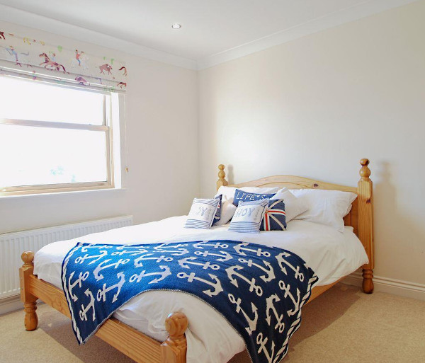 One of the four bedrooms at Gull House in Trearddur Bay