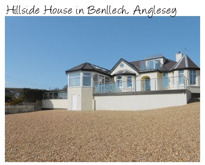 Hillside House in Benllech, Anglesey, sleeps 10 people and can be found on the coast