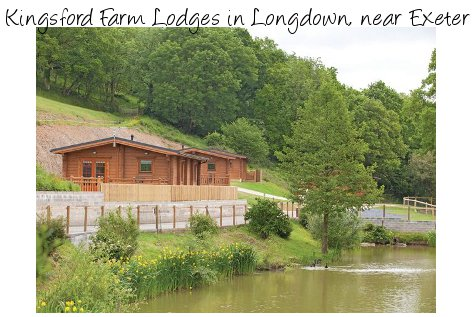 Kingsford Farm Lodges in Longdown near Exeter are a collection of lodges and cottages - the lodges have a hot tub