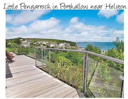 Little Pengarrock is a holiday cottage with magnificent views out over the sea in southern Cornwall