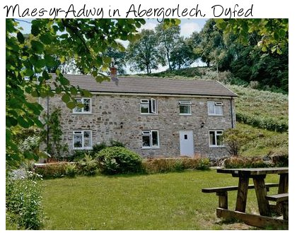 Maes-yr-Adwy is a large holiday cottage in the wilds of Wales. Maes-yr-Adwy sleeps 8 people