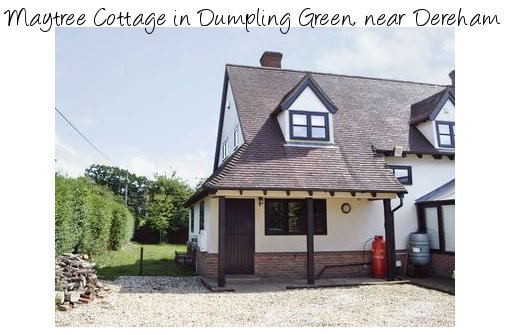 Maytree Cottage is a holiday cottage in the Norfolk village of Dumpling Green, near Dereham. Maytree Cottage sleeps 8 people