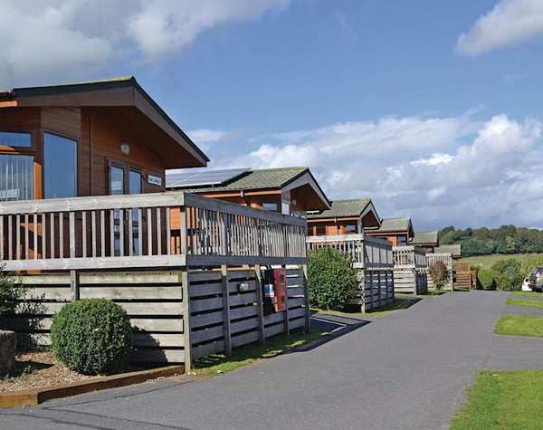 Some of the lodges at Oakcliff Holiday Park in Dawlish