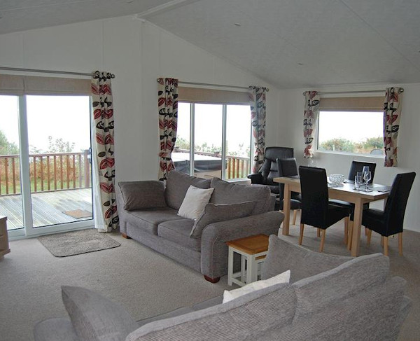 Inside one of the lodges at Ocean Lodges, Azure Seas Holiday Park