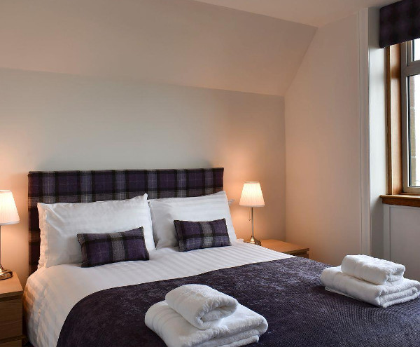 One of the bedrooms at Ormiston on the Isle of Arran