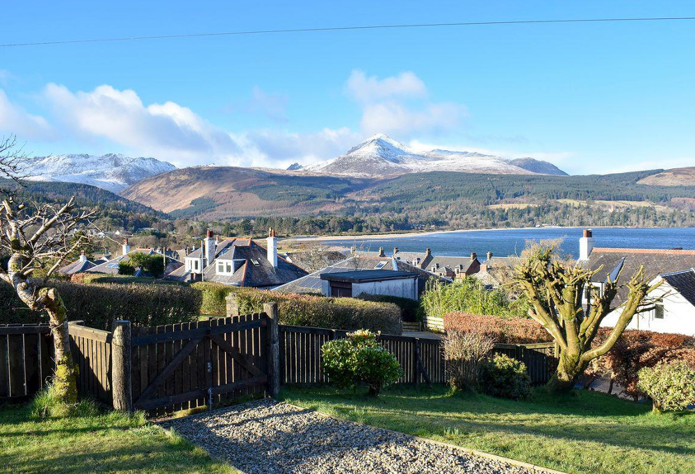 What vies - Ormiston in Brodick has some great views