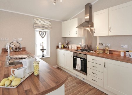 The kitchen at a lodge, Ream Hills Holiday Park