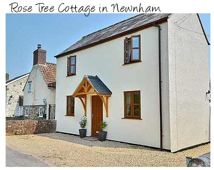 Rose Tree Cottage is in the town of Newnham, Gloucestershire - with a hot tub
