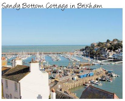 Sandy Bottom Cottage is a holiday cottage looking over the port at Brixham, Devon