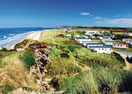 Silver Sands Holiday Park in Lossiemouth, Morrayshire is a holiday park in Scotland with lodges and caravans