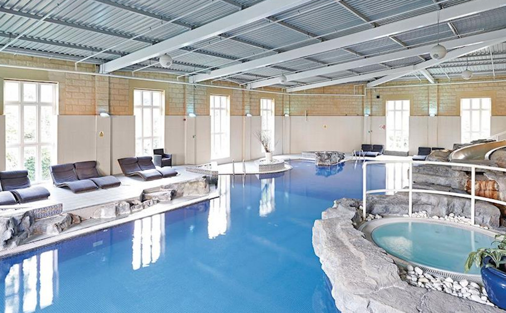 The swimming pool complex at Slaley Hall Lodges, Hexham