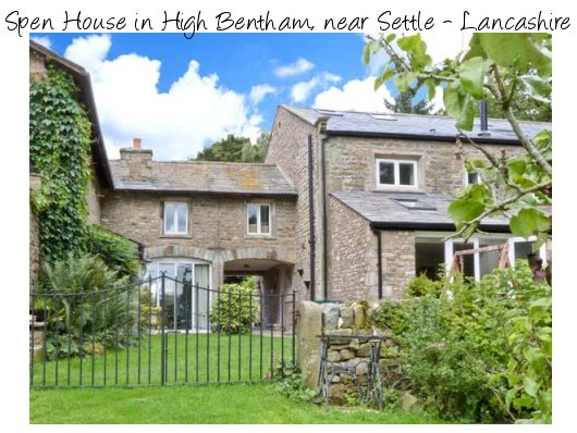 Spen House is a stone barn conversion in High Bentham, near Settle. Spen House sleeps 10 people and pet friendly