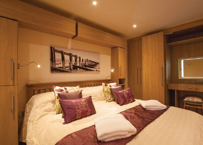 One of the bedrooms at Straker Lodges