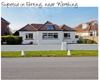 Supetsa in Ferring, near Worthing is a holiday cottage close to the south coast - and pet friendly