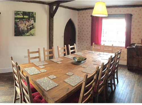 Inside The Farmhouse at Darling Buds Farm in Bethersden