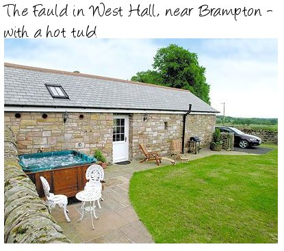 Enjoy a hot tub on your cottage holiday at The Fauld, Cumbria