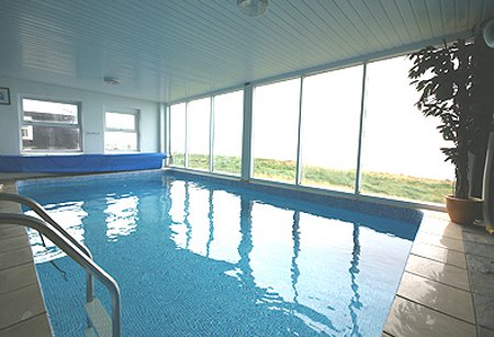 The swimming pool at The Old Lighthouse, near Haverfordwest