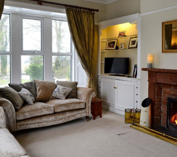 The living room at The Old Rectory in Uldale