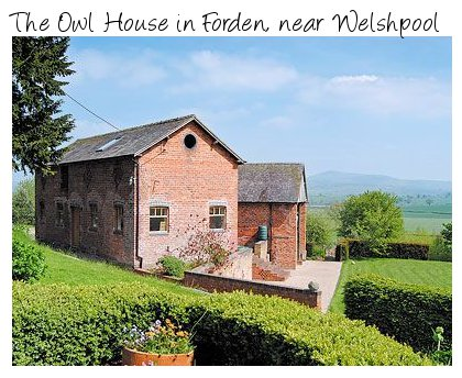 The Owl House is a romantic holiday cottage on the Wales-Shropshire border