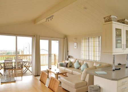 Inside one of the lodges at The Salcombe Retreat
