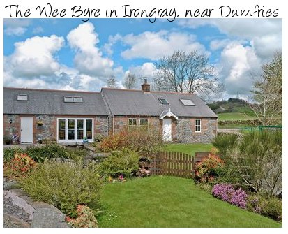 The Wee Byre in Irongray, near the south western Scottish town of Dumfries. The Wee Byre sleeps 6 people and is pet friendly