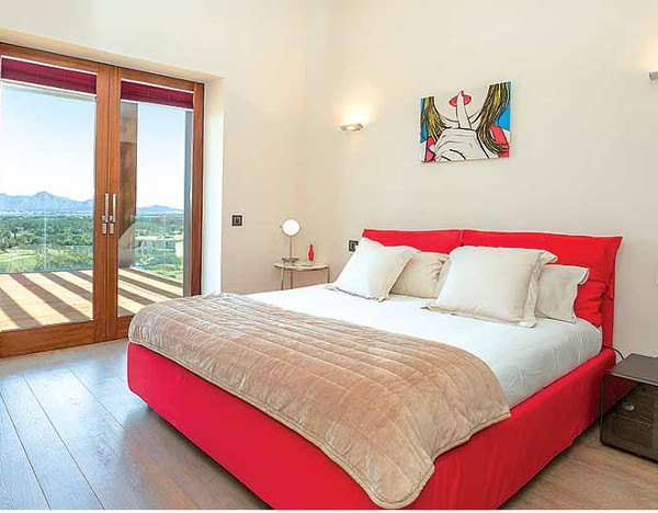 One of the 5 bedrooms at Victoria in Pollensa, Mallorca