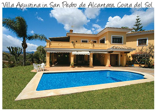 Villa Agustina is a large holiday villa in the San Pedro de Alcantara area of Costa del Sol
