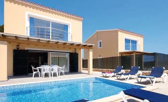 Villa Garbo in Arenal d'en Castell, on Menorca, sleeps 10 people