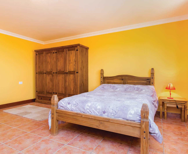 One of the bedrooms at Villa Lucy on Tenerife