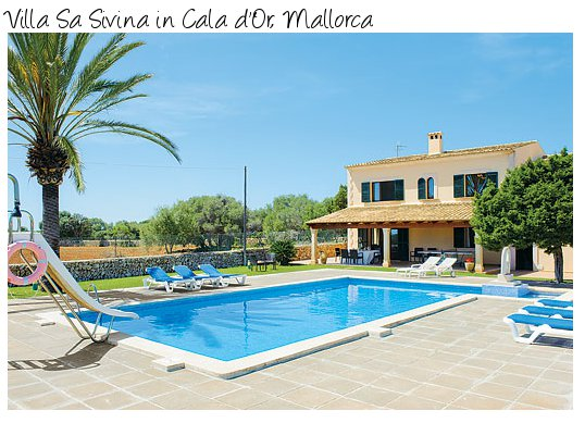 Villa Sa Sivina is in the Cala d'Or area of the Balearic Island of Mallorca - Villa Sa Sivina sleeps 10 people