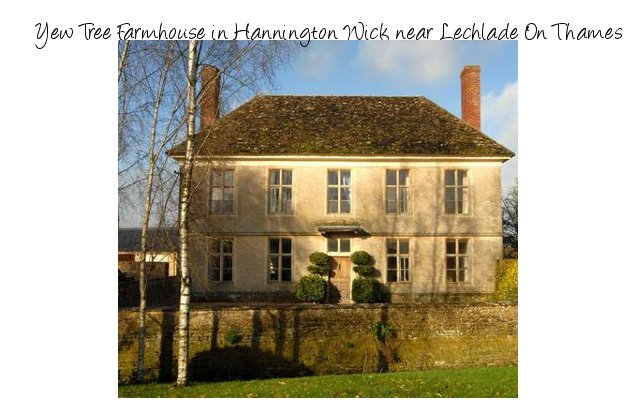 Yew Tree Farmhouse is a large holiday cottage near Lechlade On Thames, Wiltshire - sleeping 14 people